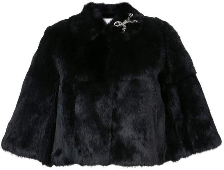 Jacke aus Hasenfell