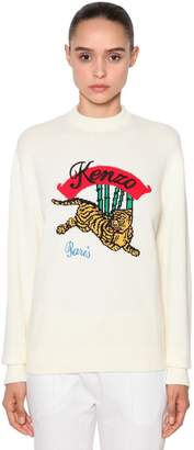 Kenzo Embroidered Cotton Jacquard Sweater