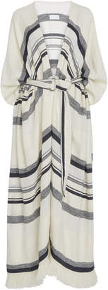 Noon by Noor Jay Cotton Belted Striped Caftan