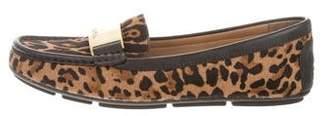 Calvin Klein Ponyhair Leopard Loafers