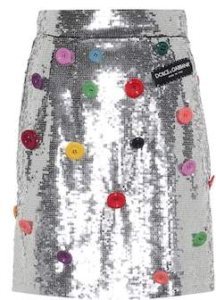 Dolce & Gabbana Embellished sequinned skirt
