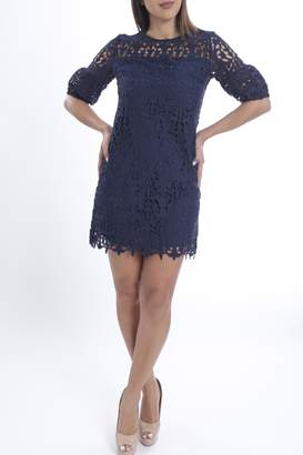 Cattiva Girl Navy Lace Dress
