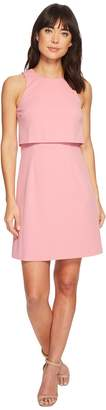 Donna Morgan Sleeveless Fit and Flare Pop-Over Women's Dress