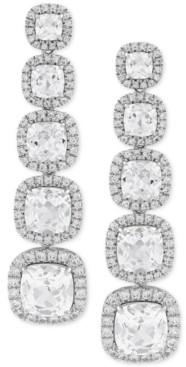 Arabella Cubic Zirconia Drop Earrings in Sterling Silver