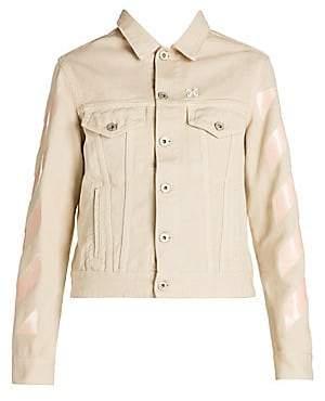 Off-White Women's Logo Stripe Denim Jacket