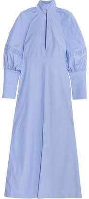 Ellery Nitehawk Gathered Cotton Maxi Dress