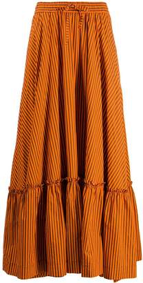 P.A.R.O.S.H. striped maxi skirt