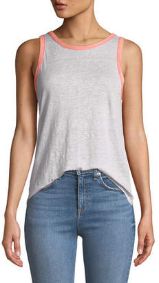 Rag & Bone Payton Scoop-Neck Linen Tank