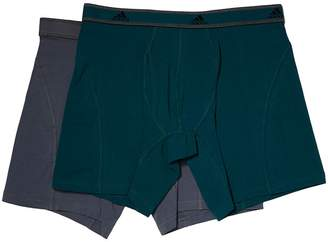 adidas Relaxed Performance Stretch Cotton 2-Pack Boxer Brief Men's Underwear
