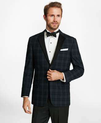Brooks Brothers Regent Fit Plaid Seersucker Tuxedo Jacket