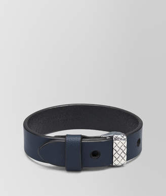 Bottega Veneta DENIM NAPPA AND SILVER AND CUIR BRACELET