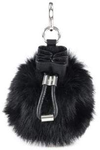 Alexander Wang Mini Roxy Rabbit Fur Drawstring Bag Keychain