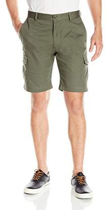 Louis Raphael s Men's Flat Front Cotton Blend Cargo Short