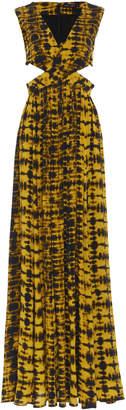 Proenza Schouler Sleeveless Printed Jersey Maxi Dress