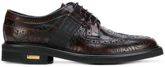 Versace Baroque embroidered brogues