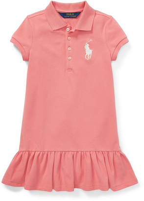 Polo Ralph Lauren Little Girls Short-Sleeve Big Pony Dress