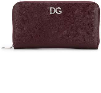 Dolce & Gabbana Continental crystal logo wallet