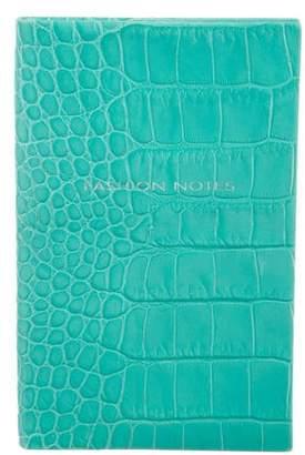 Smythson Embossed Leather Notebook