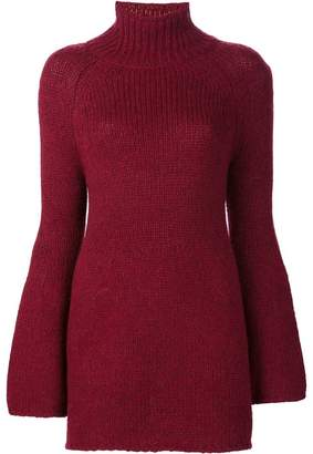 Rosetta Getty bell sleeve turtleneck sweater