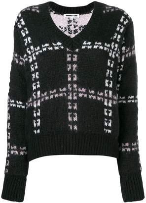 McQ checked knitted jumper