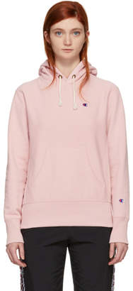 Champion Reverse Weave Pink Small Logo Warm-Up Hoodie