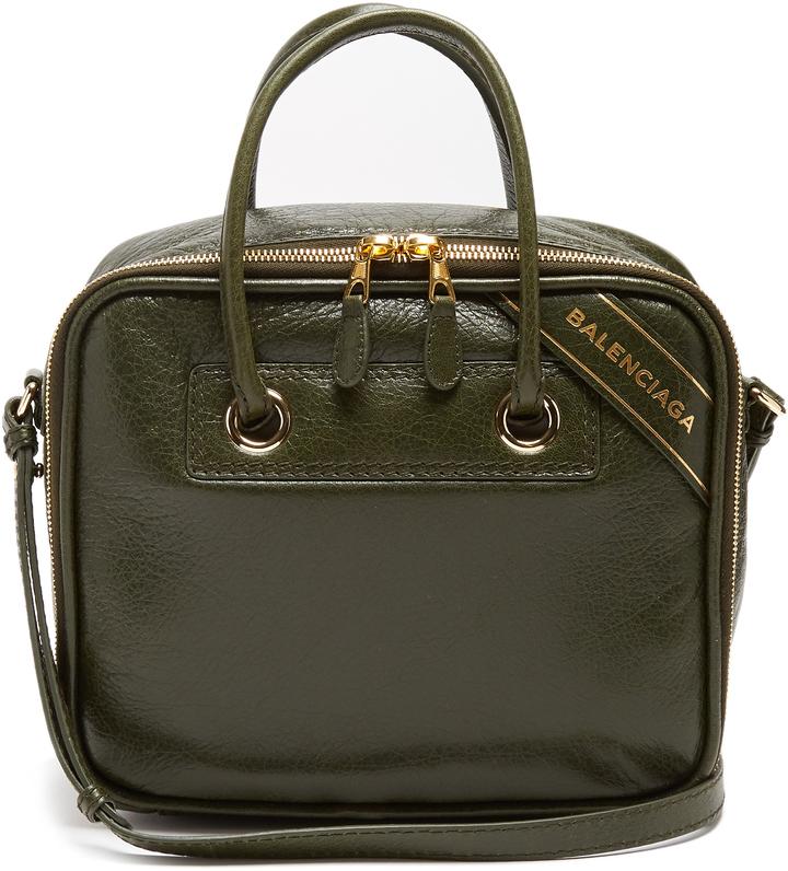 Balenciaga BALENCIAGA Blanket Square small leather bag