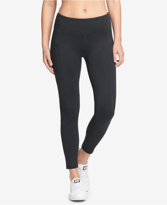 DKNY Sport Essential High-Rise Mesh-Inset Ankle Leggings