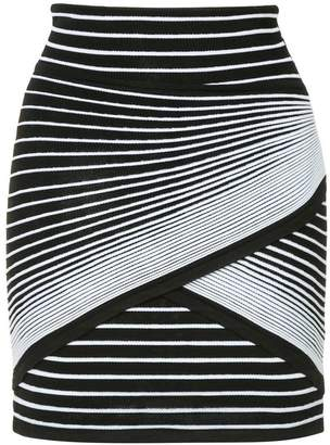 Balmain striped mini skirt