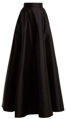 Amanda Wakeley Atelier Wool Blend Satin Maxi Skirt - Womens - Black