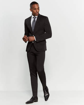 Kenneth Cole Reaction Black Two-Piece Skinny Fit Suit