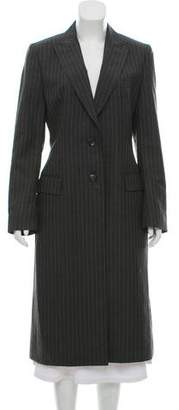 Dolce & Gabbana Striped Wool Coat