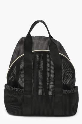 boohoo Pleated Mesh Sports Rucksack