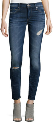 True Religion Halle Super-Skinny Jeans, Dark Authentic Indigo $229 thestylecure.com
