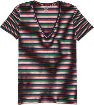 30fc7a87736aa0 Madewell Whisper Cotton Stripe V-Neck Pocket Tee