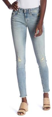 G Star Deconstructed Mid-Rise Skinny Jeans