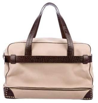 Diane von Furstenberg Leather-Trimmed Canvas Weekender Bag