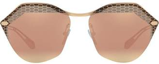 Bulgari rounded hexagonal frame sunglasses