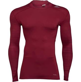 7c78a1e8 adidas Mens TechFit T-Shirt Long Sleeve Top Mystery Ruby/Print