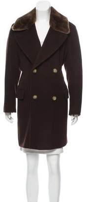 Max Mara Fur-Trimmed Wool Coat