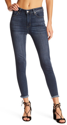 Just USA High Rise Frayed Hem Cropped Skinny Jean (Juniors) $59.99 thestylecure.com