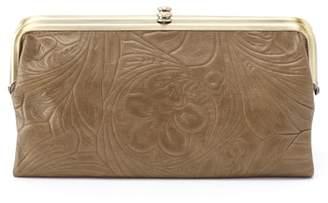 Hobo Lauren Flower Embossed Leather Clutch Wallet