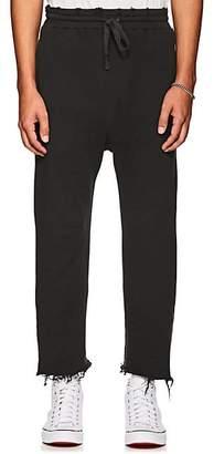 R 13 Men's Cotton Terry Crop Sweatpants - Black