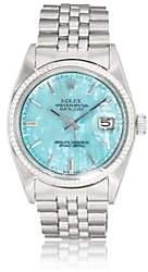 Rolex Vintage Watch Women's 1972 Oyster Perpetual Datejust Watch-Blue