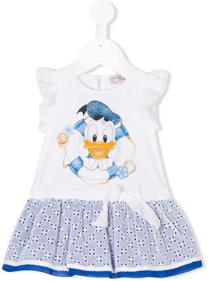 MonnaLisa Donald Duck-print dress