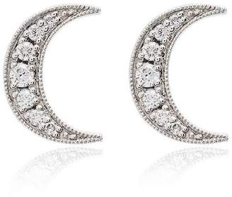 Andrea Fohrman white gold crescent moon diamond earrings