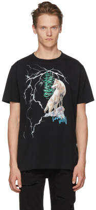 Marcelo Burlon County of Milan Black Wolf Lightning T-Shirt