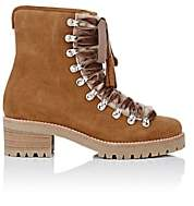 Barneys New York Women's Suede & Shearling Lace-Up Ankle Boots-Beige, Tan