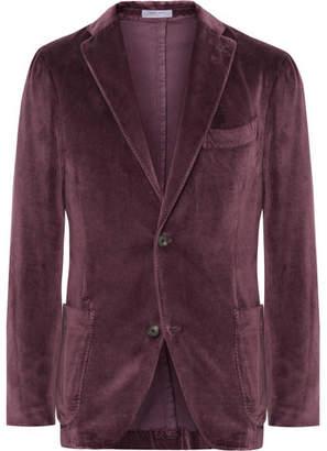 Boglioli Grape K-Jacket Unstructured Cotton-Velvet Blazer