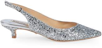 Badgley Mischka Stephanie II Glitter Slingback Pumps