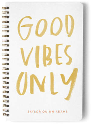 Minted The Vibes Day Planner, Notebook, or Address Book
